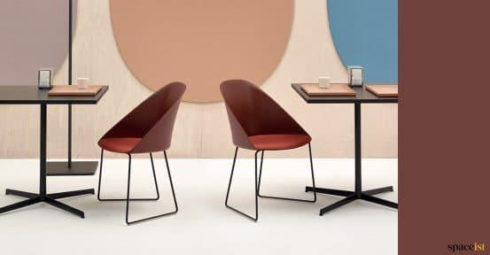 Burgundy cafe chair
