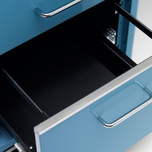 Blue filing drawer