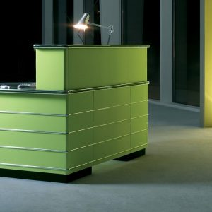 Green retro desk