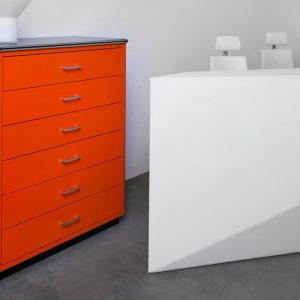 Orange drawers