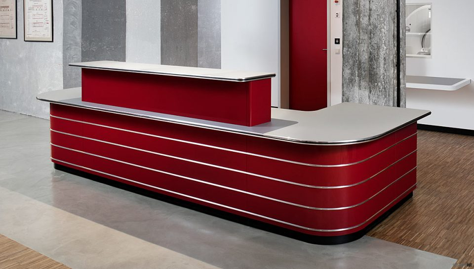 50's Style reception desk in red