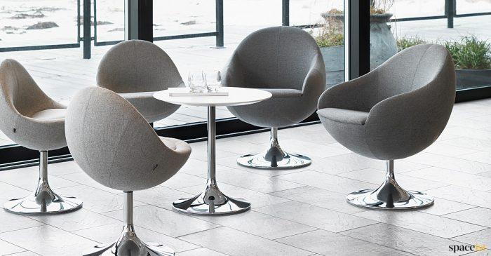 Comet grey tub reception chair