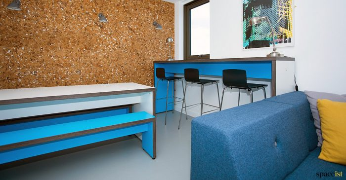 Blue common room high table