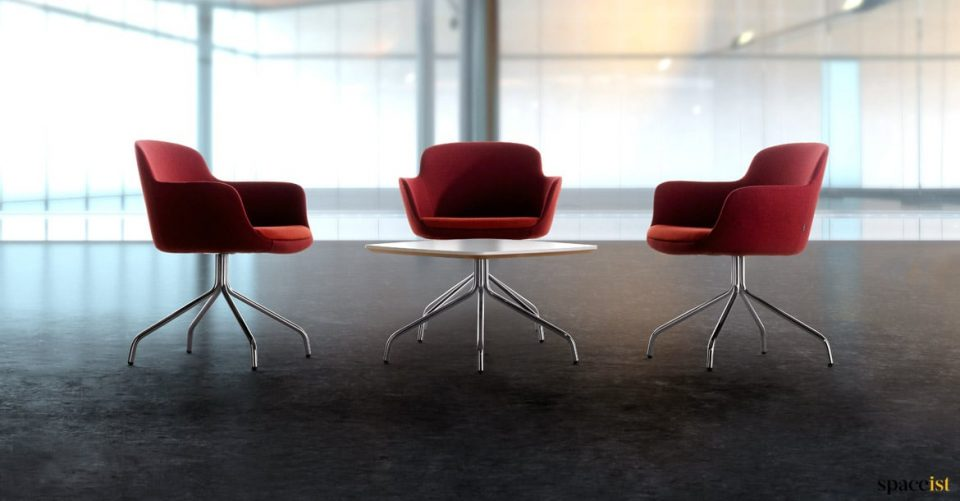 red meeting chairs