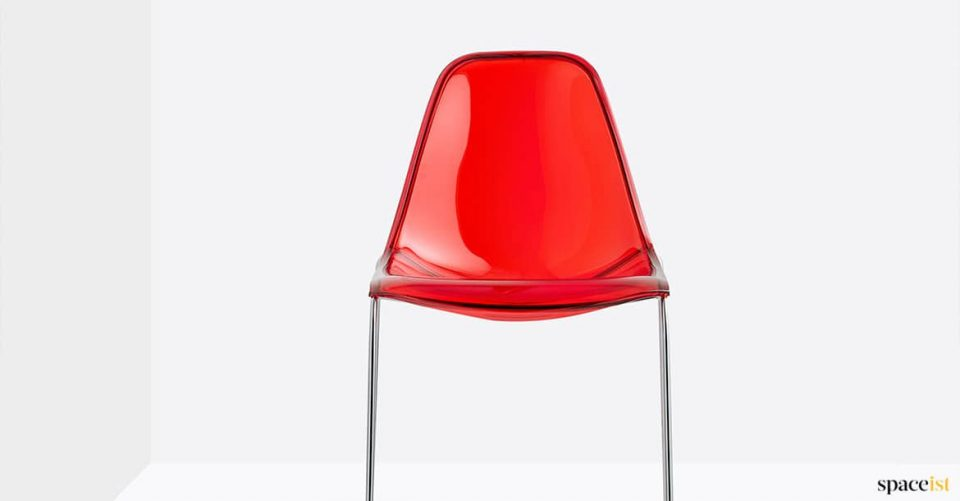 Translucent red chair
