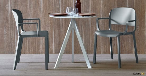 Dom grey cafe chair
