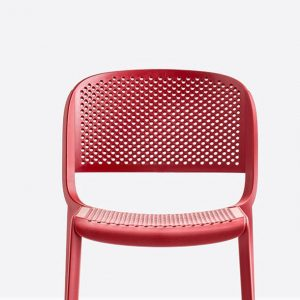 red holy cafe chair