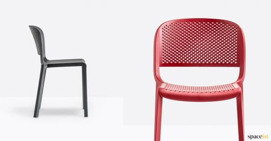 Black + red cafe chair