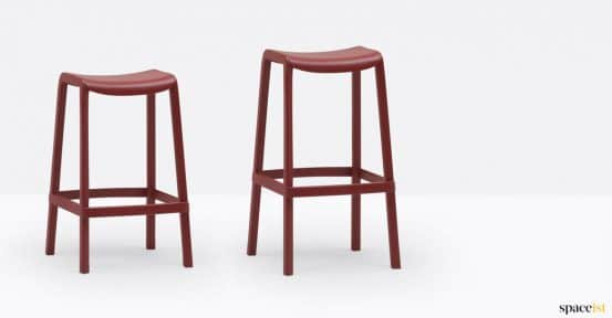 Red stool two heights