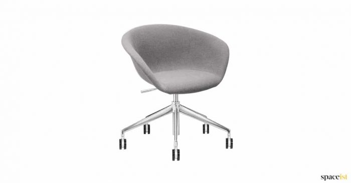Duns grey desk schair wheels