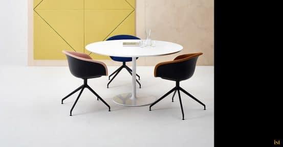 Duna designer meeting chair black