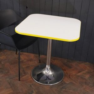 Modern cafe table chrome base
