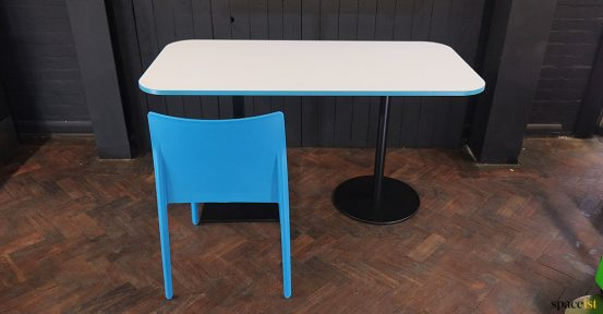 4 seater table blue chair