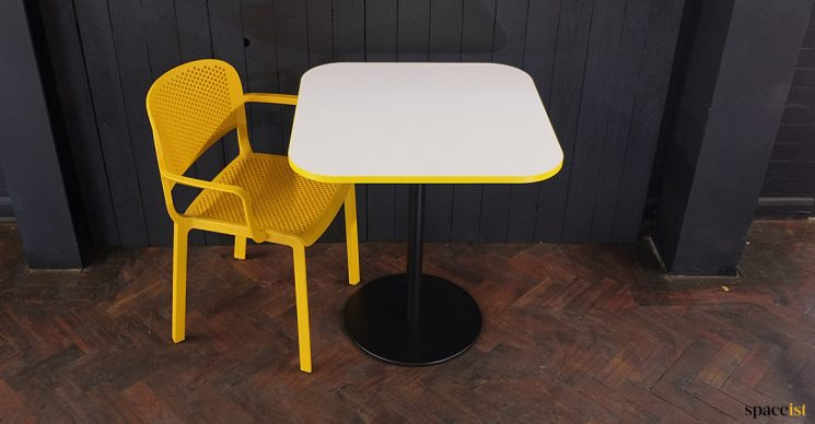 Yellow table and chair