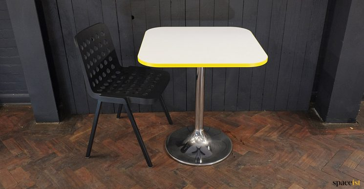 table with chair holes