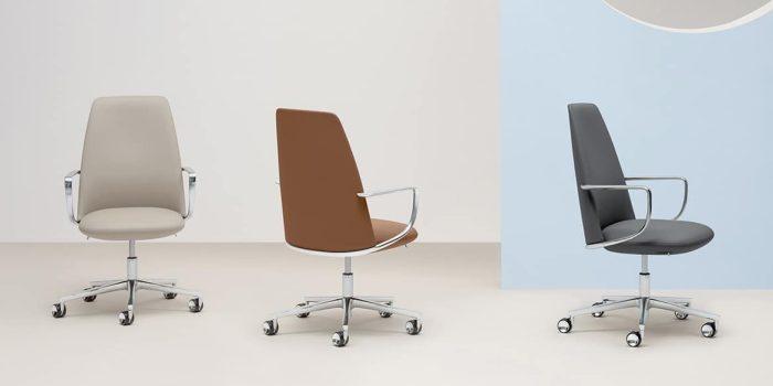 Elior desk chair by Pedrali