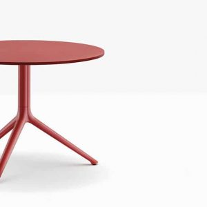 Red low cafe table