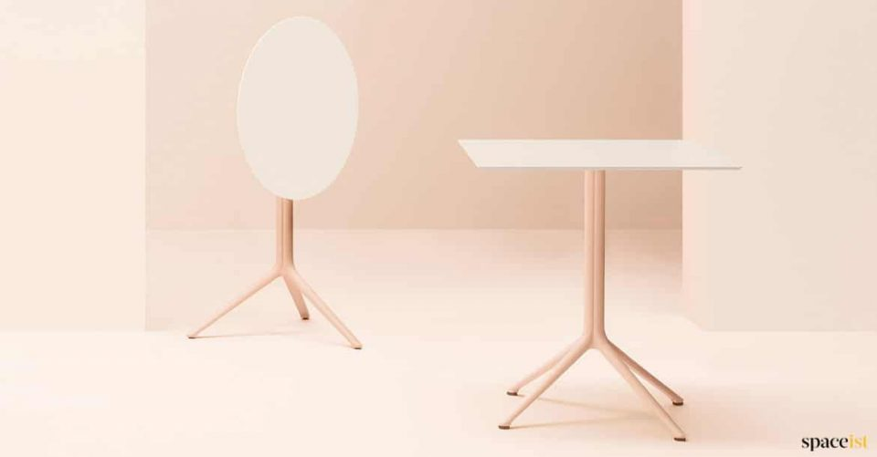 pink folding table