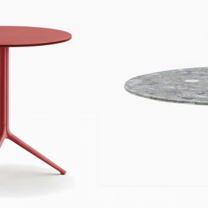 red folding table