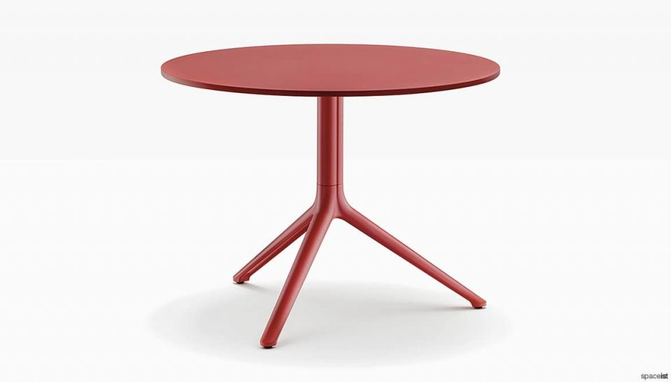Round red table