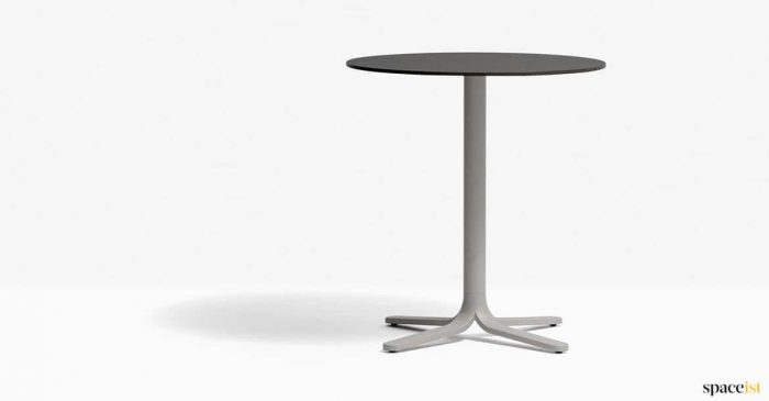 Beige + black cafe table round