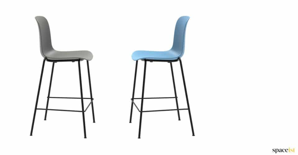 Blue high stools