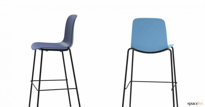 blue bar stools stackable