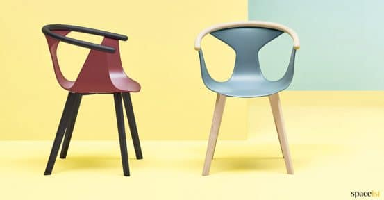 Retro coloured chairs