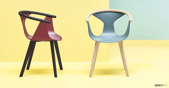 Retro coloured chairs
