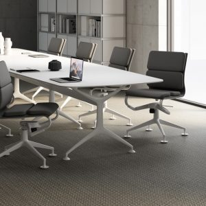 10 person white meeting table
