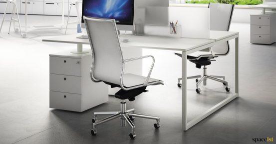 2 person desk with under desk storage