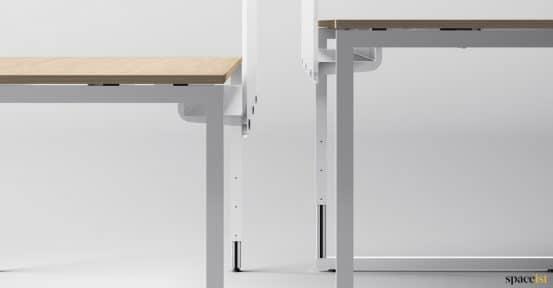 Frame adjustable desk