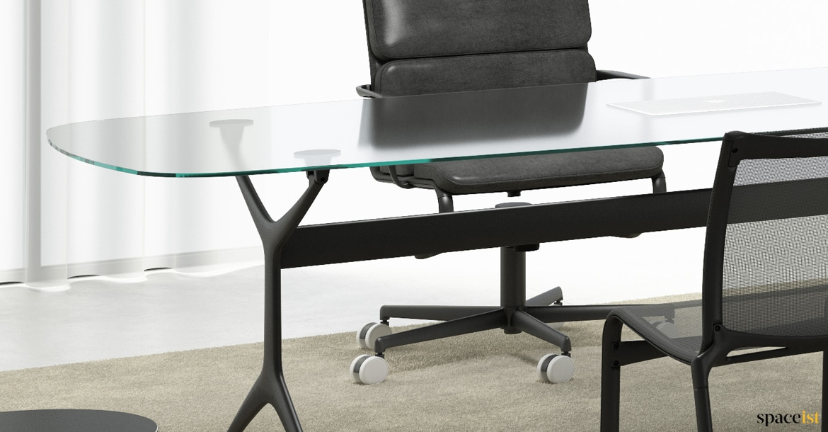 Meeting Tables : Frame glass meeting tables