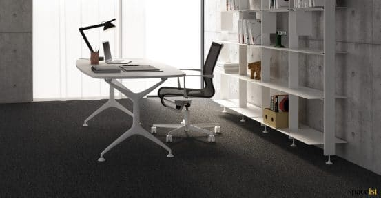 Frame designer white executive desk
