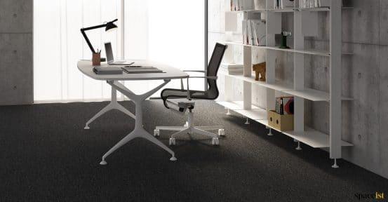 Frame designer white executive desk