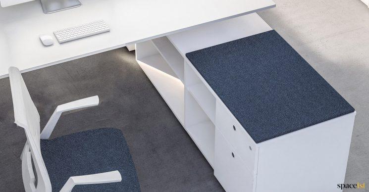 Frame desk storage blue