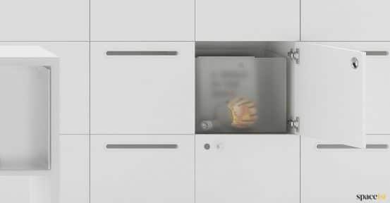 Spaceist-Frame-staff-locker-with-perspex-box