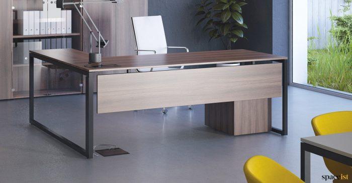 Frame walnut corner desk