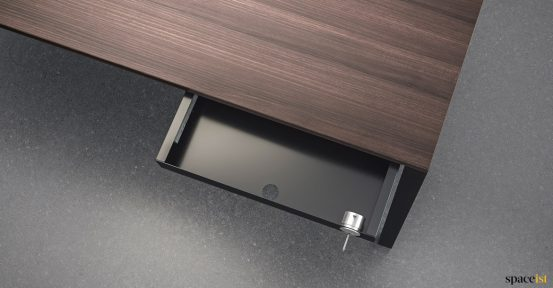 Frame under desk drawer