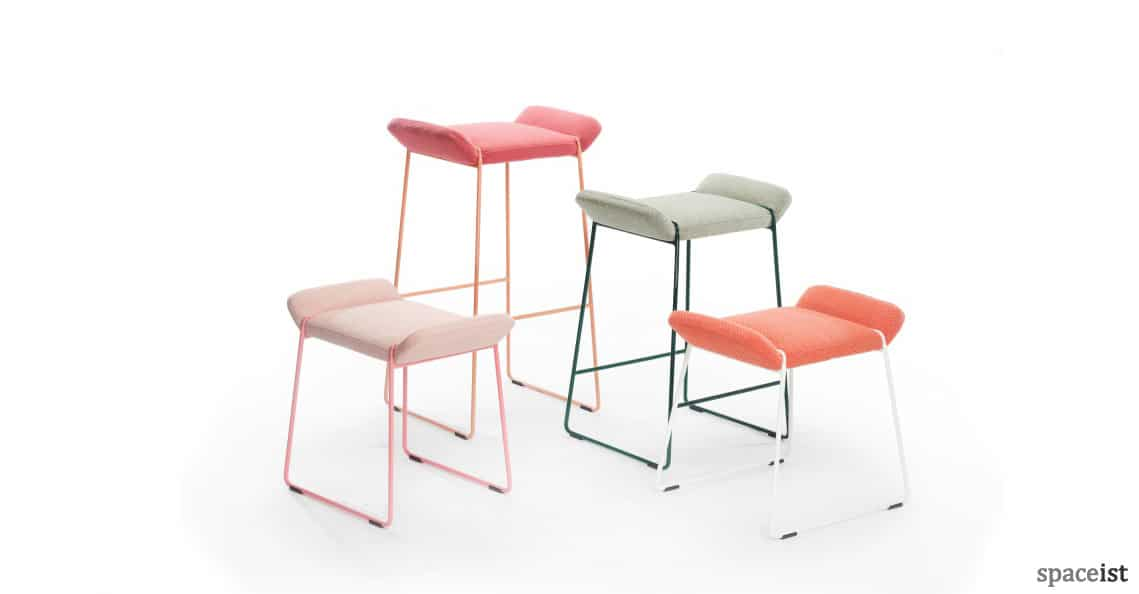 Spaceist Frankie colourful high low stools 2