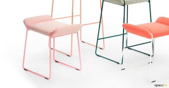 Frankie pink low stool