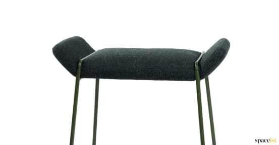 Fankie dark grey stool padded seat