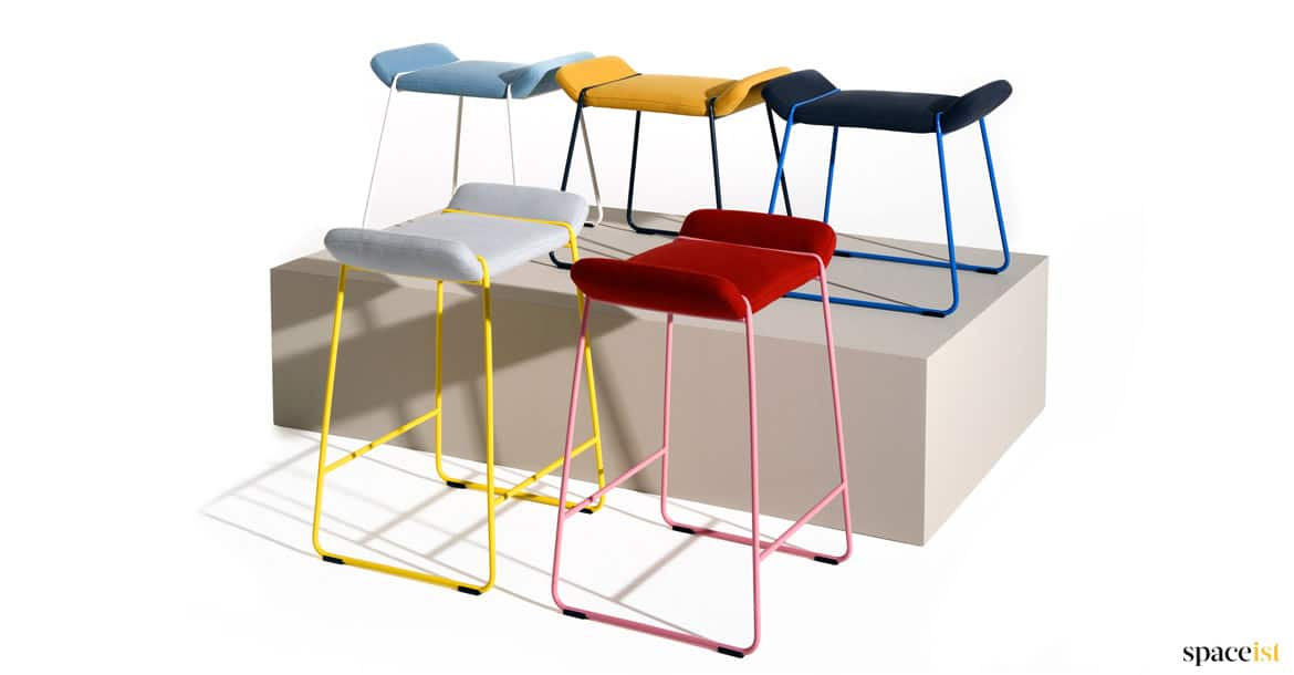 frankie cafe dining chair. frankie red, yellow + blue low cafe stool dining chair s