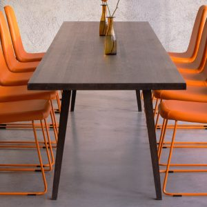 Game orange high back meeting chair