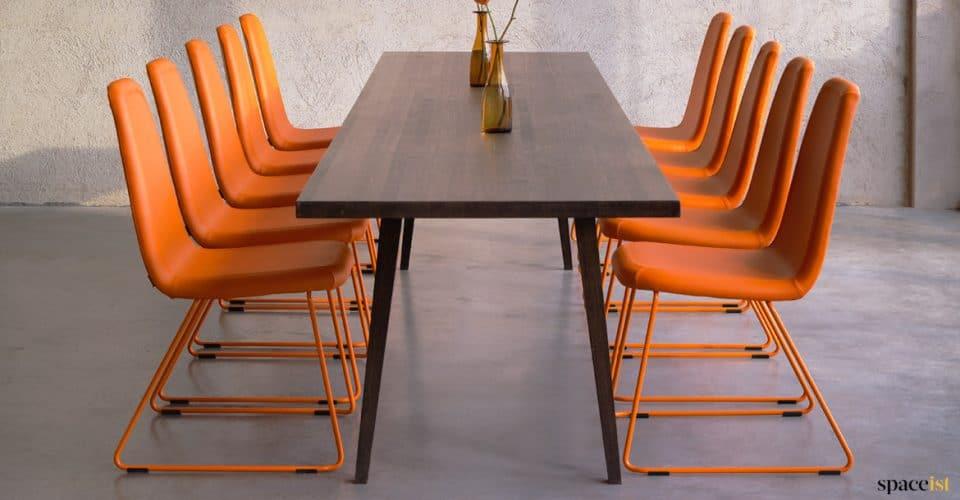 Game orange high back meeting chair