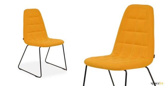 Game meeting chair with yellow quilted seat