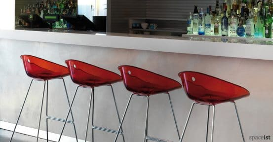 Gliss red bar stools