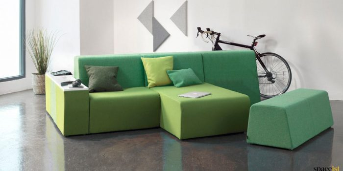 Green modualr hangout sofa