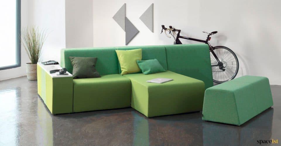 Green modualr hangout sofa