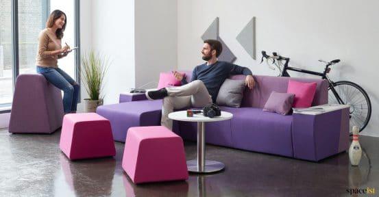 purple staff sofa